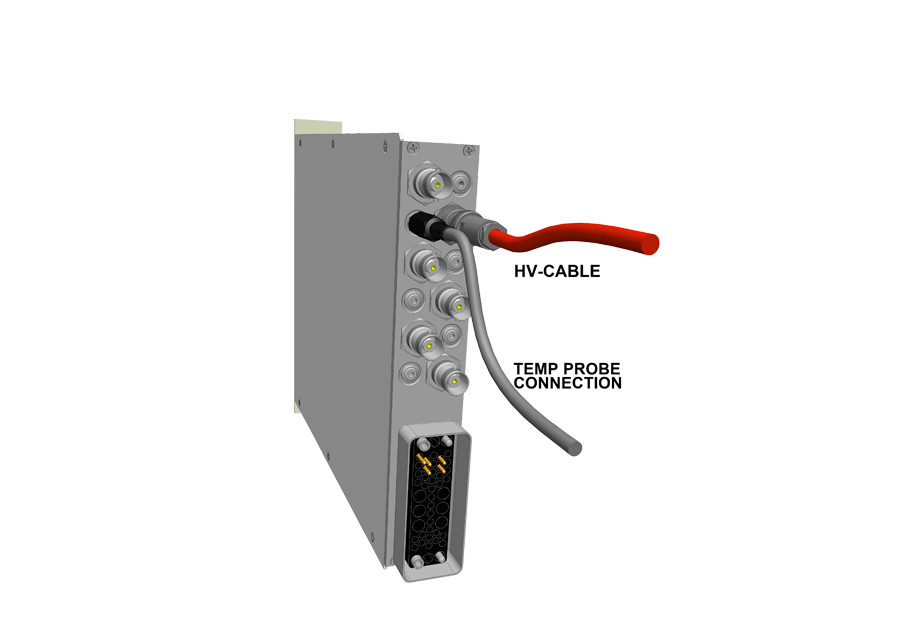 NHS backside with probe connector for voltage correction